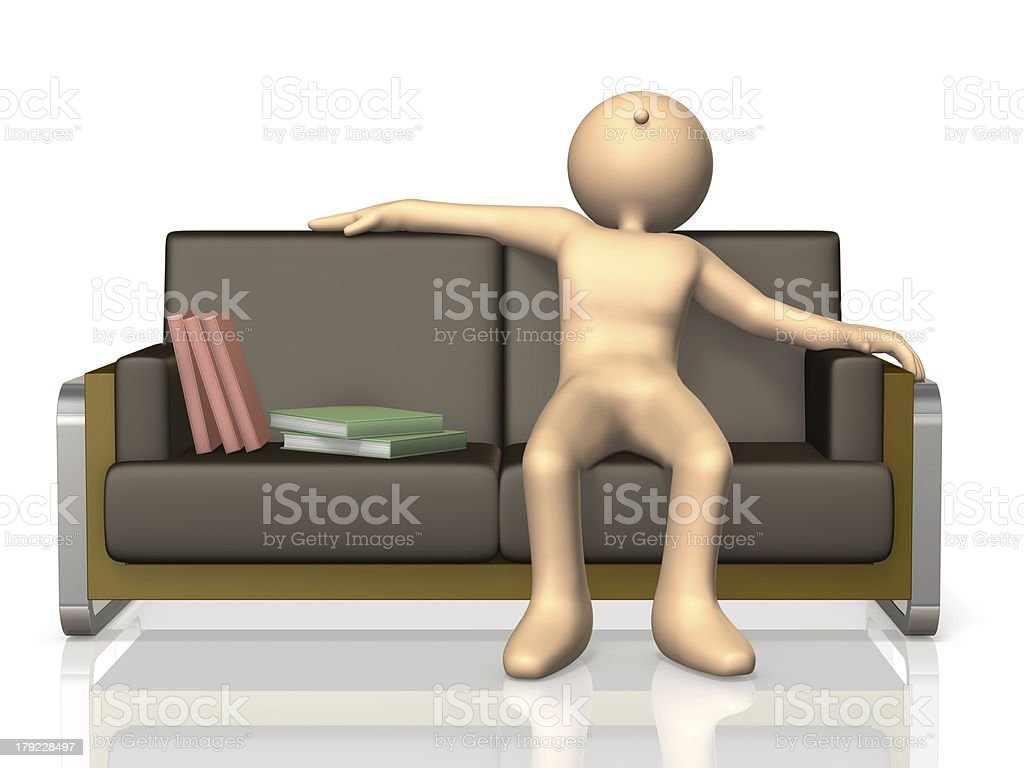 He is satisfied to read through the book. royalty-free stock photo