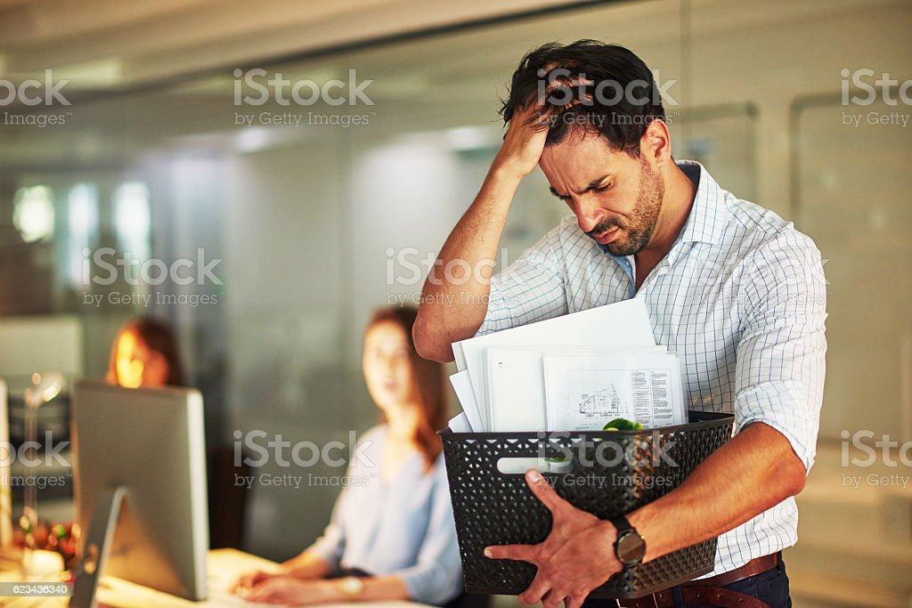He just got his marching orders stock photo