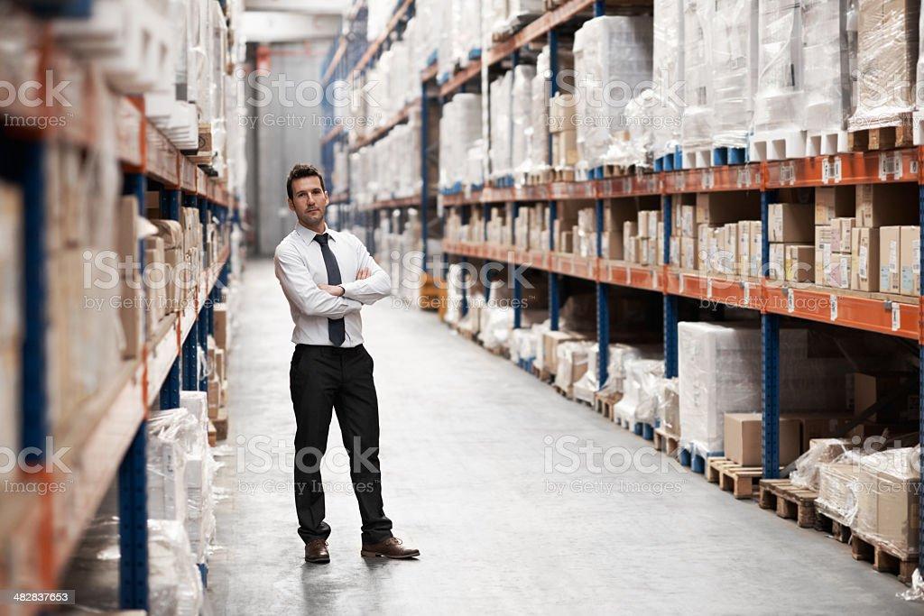 He keeps things organised royalty-free stock photo