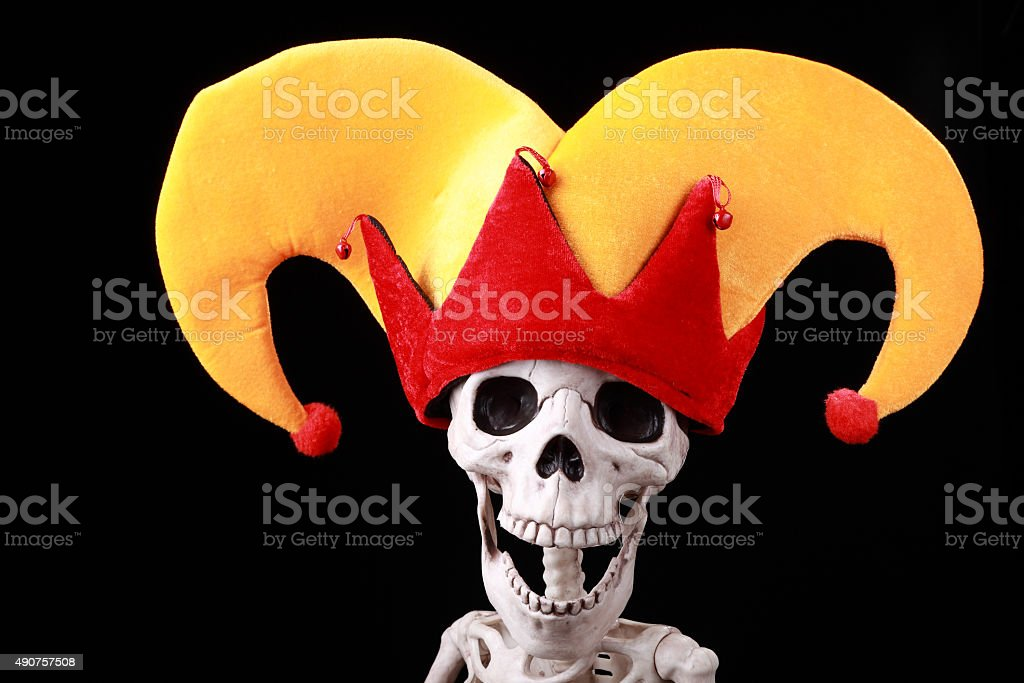He killed himself laughing! stock photo