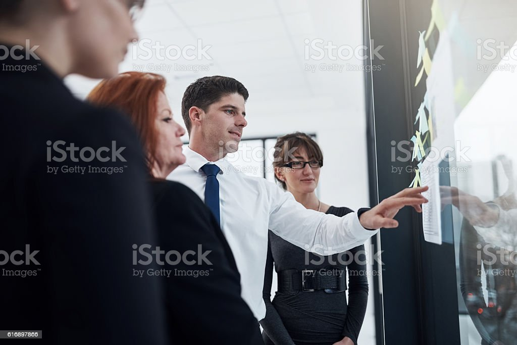 He knows exactly how to solve this one stock photo