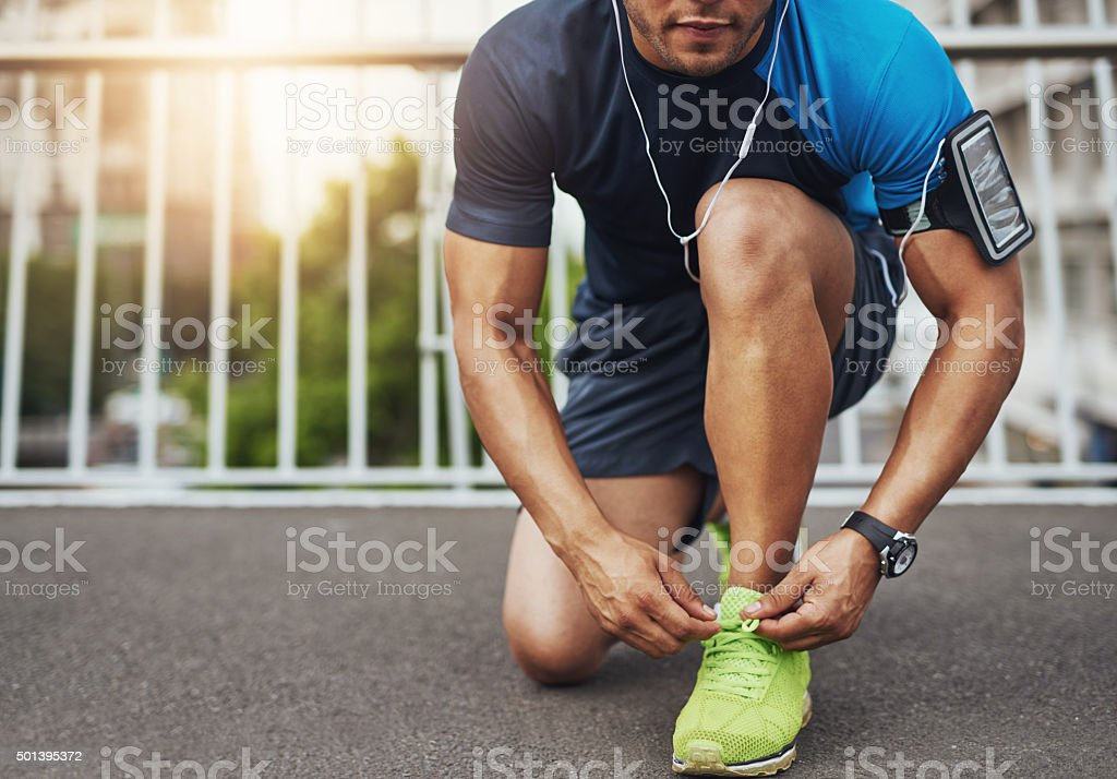 He lives for his daily run stock photo