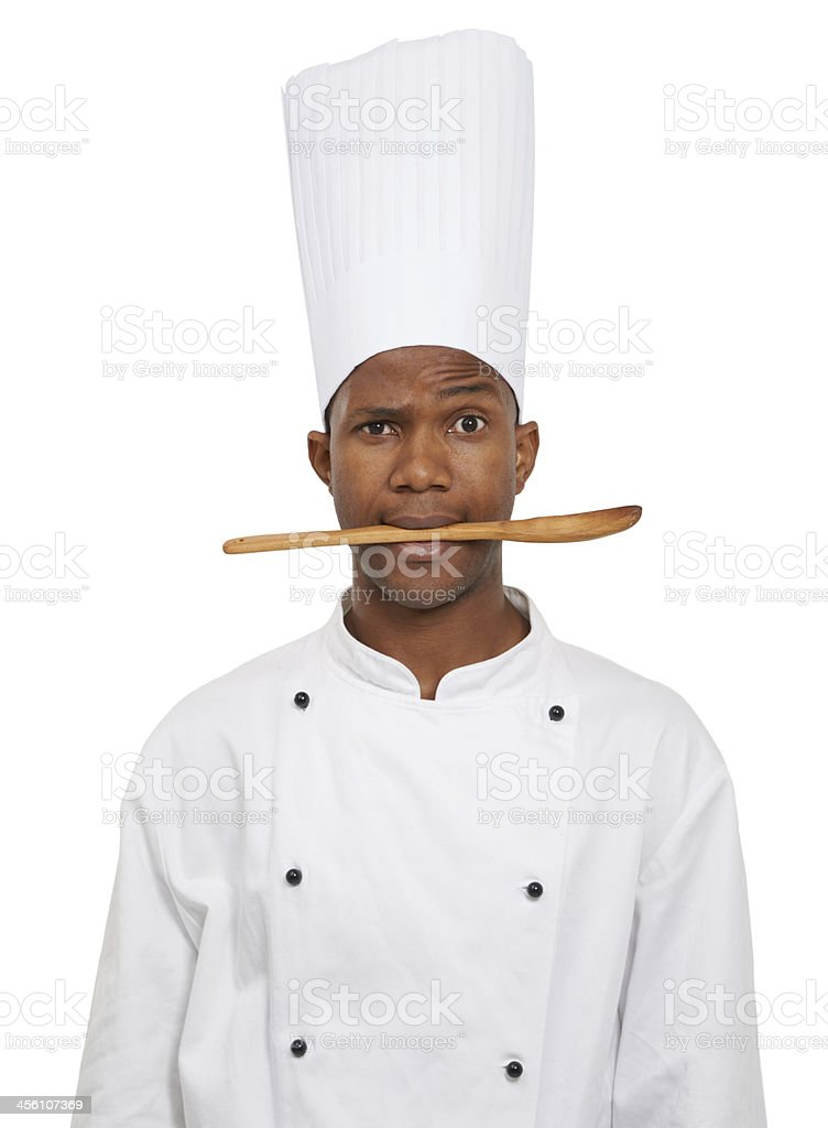 He lives to cook royalty-free stock photo