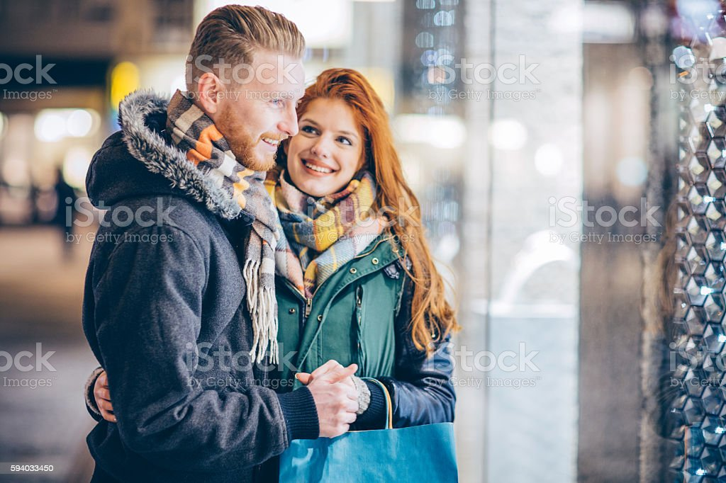 He love shopping with me! stock photo