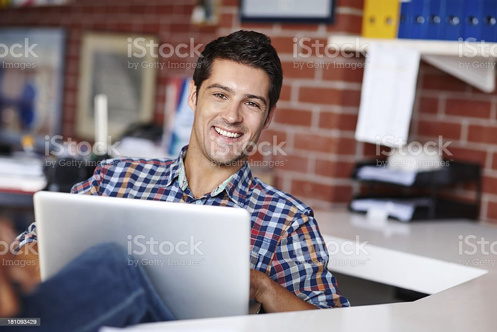 He loves his job! royalty-free stock photo
