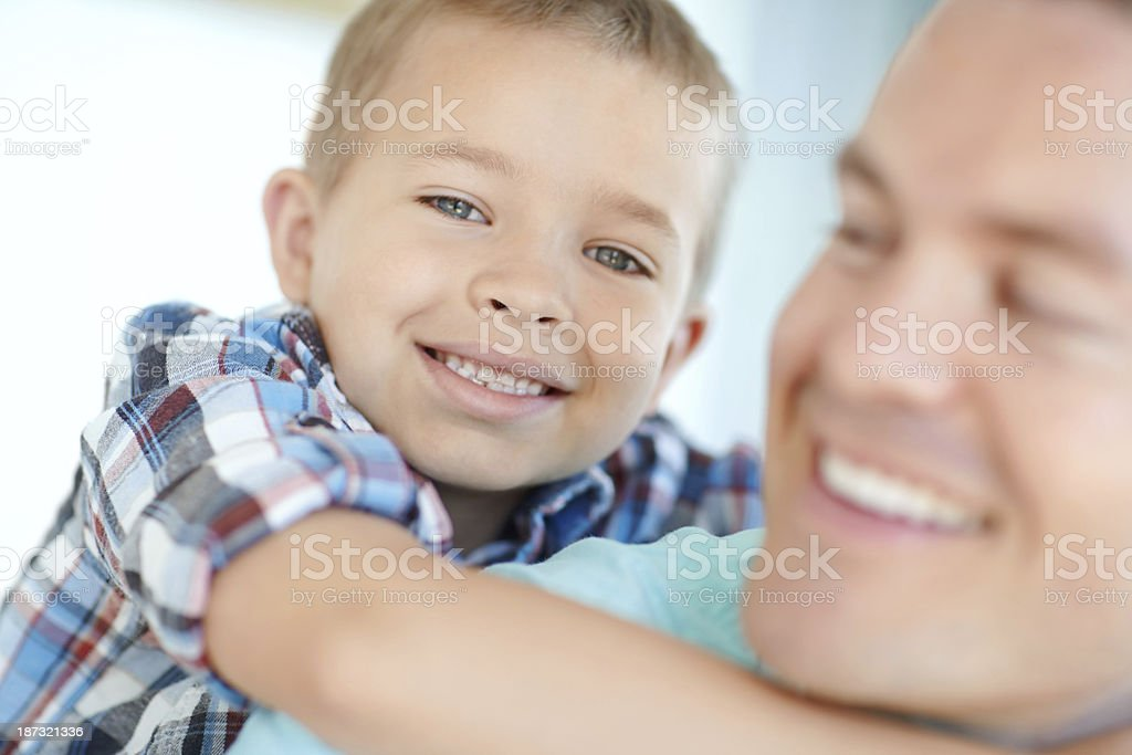 He loves his son royalty-free stock photo