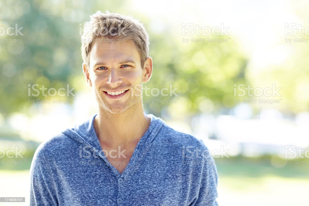 He loves nature royalty-free stock photo
