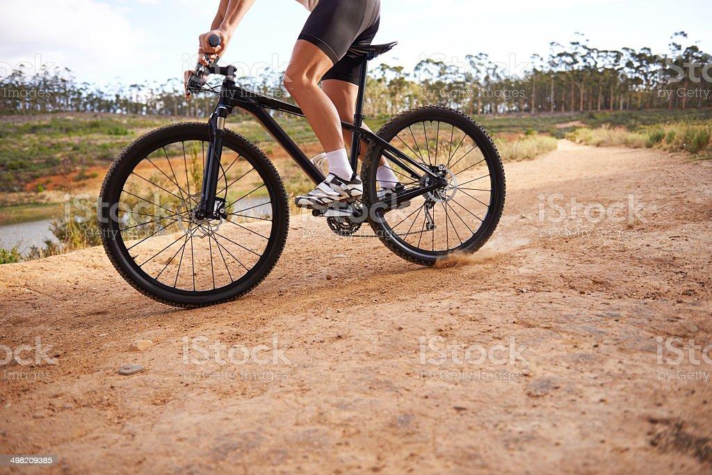 He loves rough terrain! royalty-free stock photo