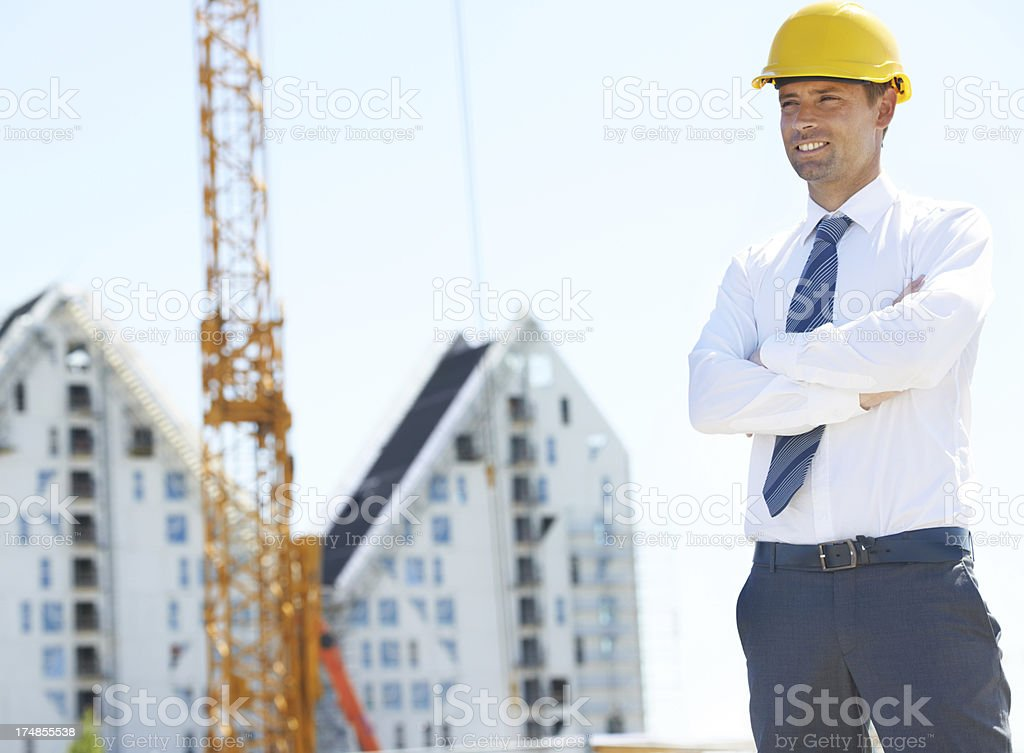 He loves seeing a plan come together royalty-free stock photo