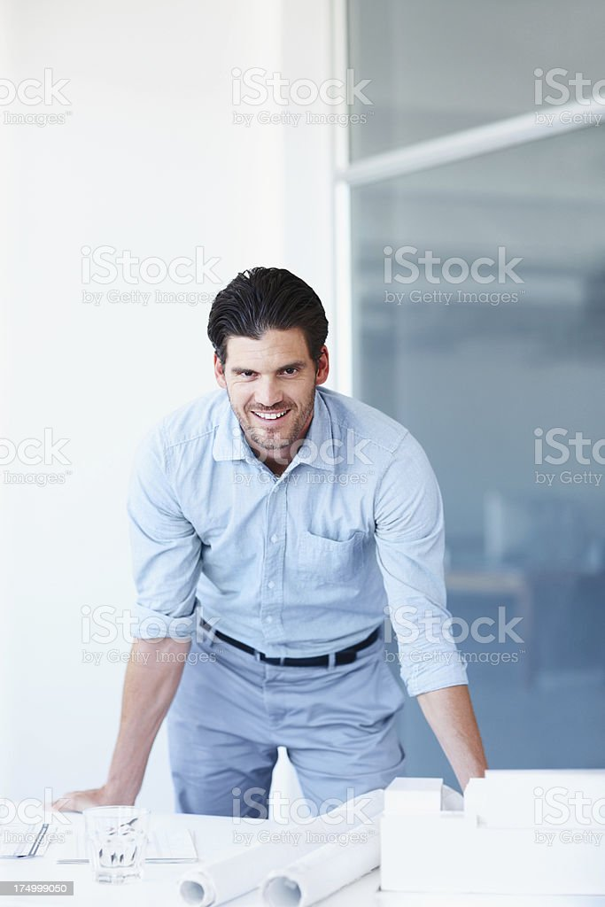 He loves seeing the fruits of his labour royalty-free stock photo