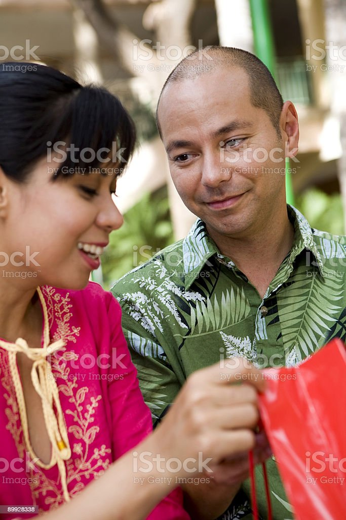 He Loves That She's Happy royalty-free stock photo