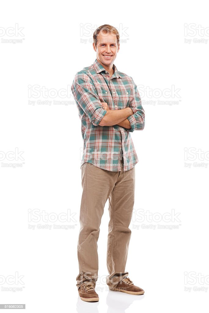 He loves the laid back look stock photo