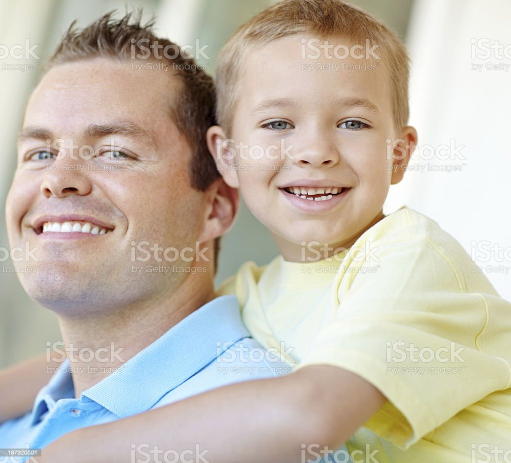He loves to get hugs from his boy royalty-free stock photo