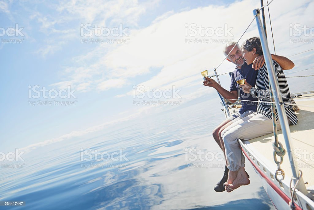 He made it the most special anniversary stock photo