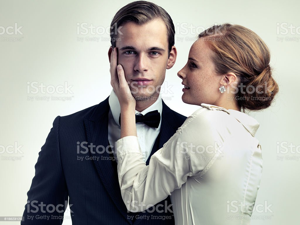 He makes them weak at the knees stock photo