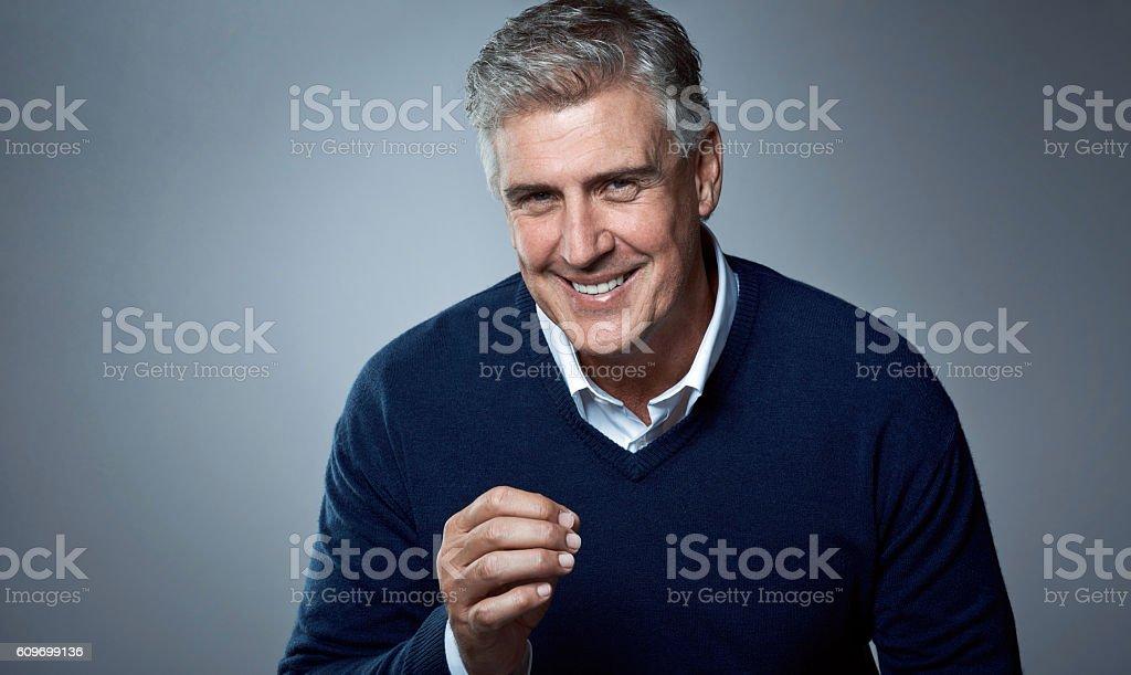 He matured like a fine wine stock photo