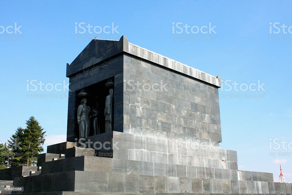 he Monument to the Unknown Soldier on Avala, Belgrade stock photo