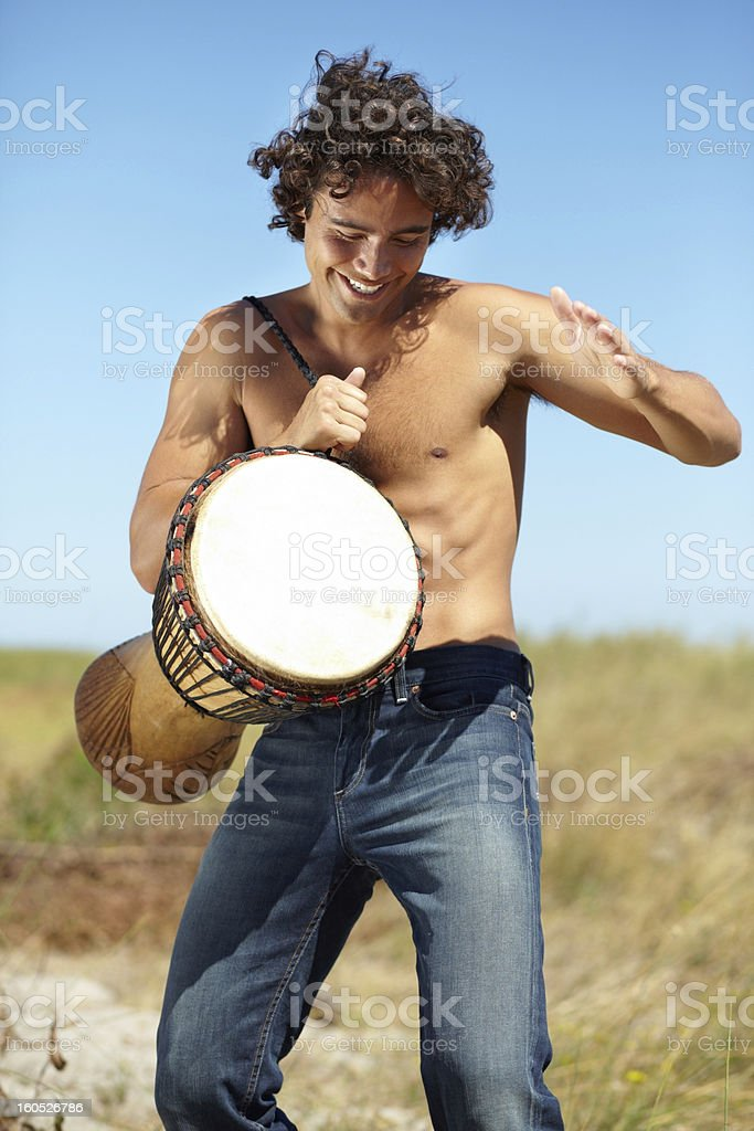 He moves to his own beat royalty-free stock photo
