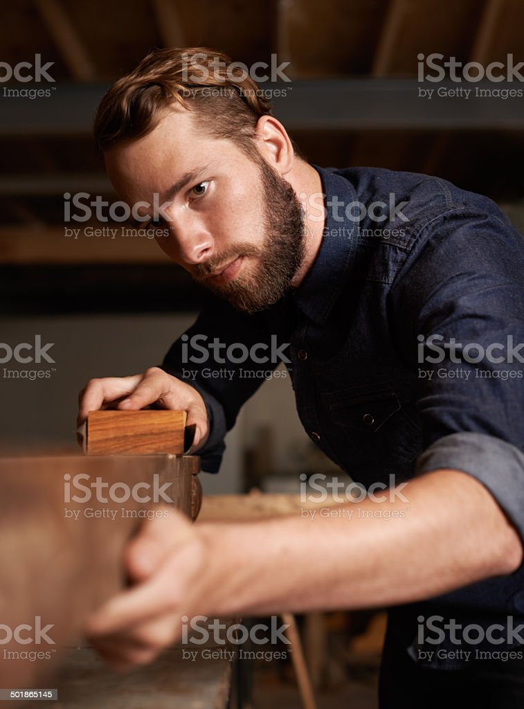 He needs to keep a steady hand stock photo