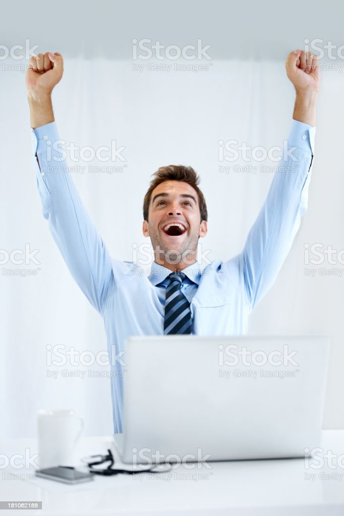 He never thought he'd make the deadline... royalty-free stock photo