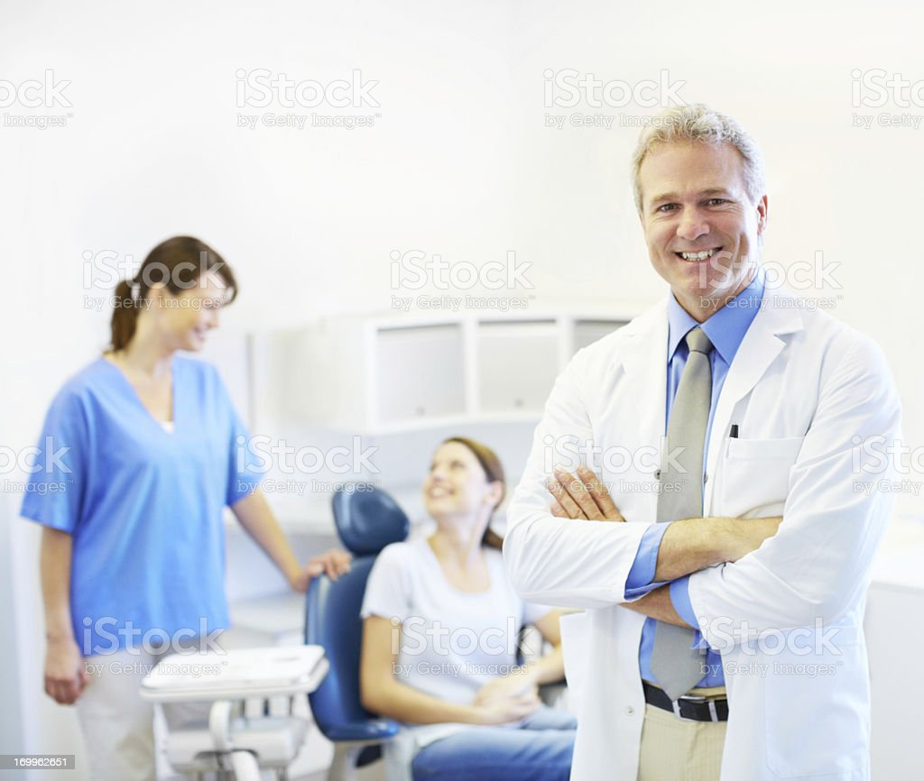 He puts his patients at ease royalty-free stock photo