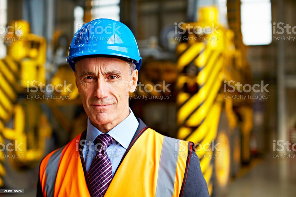 He puts the logic in logistics stock photo