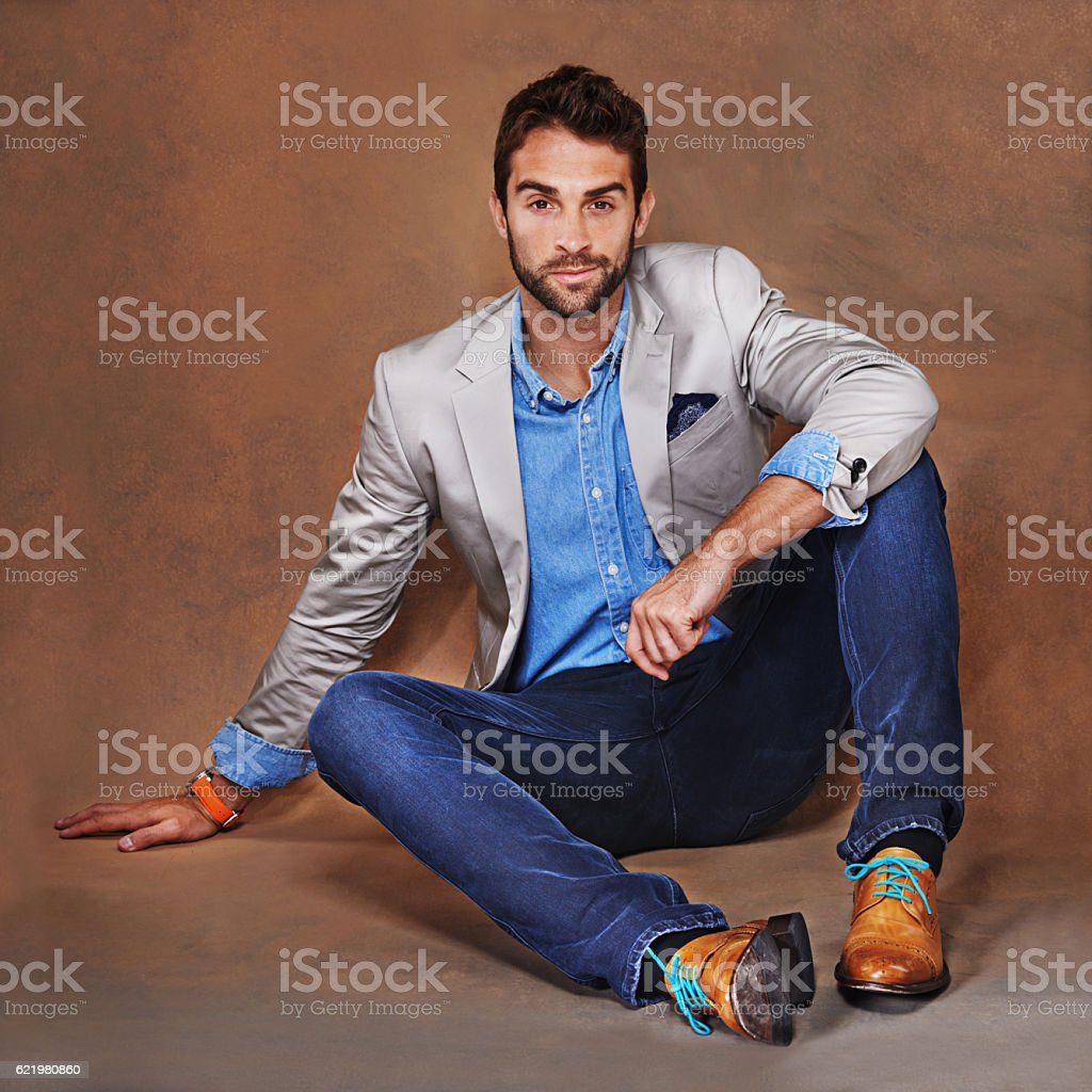 He represents the perfect example of modern elegance stock photo