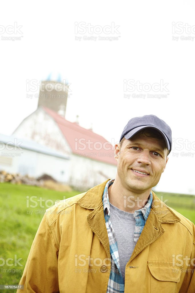 He runs a well-ordered farm royalty-free stock photo