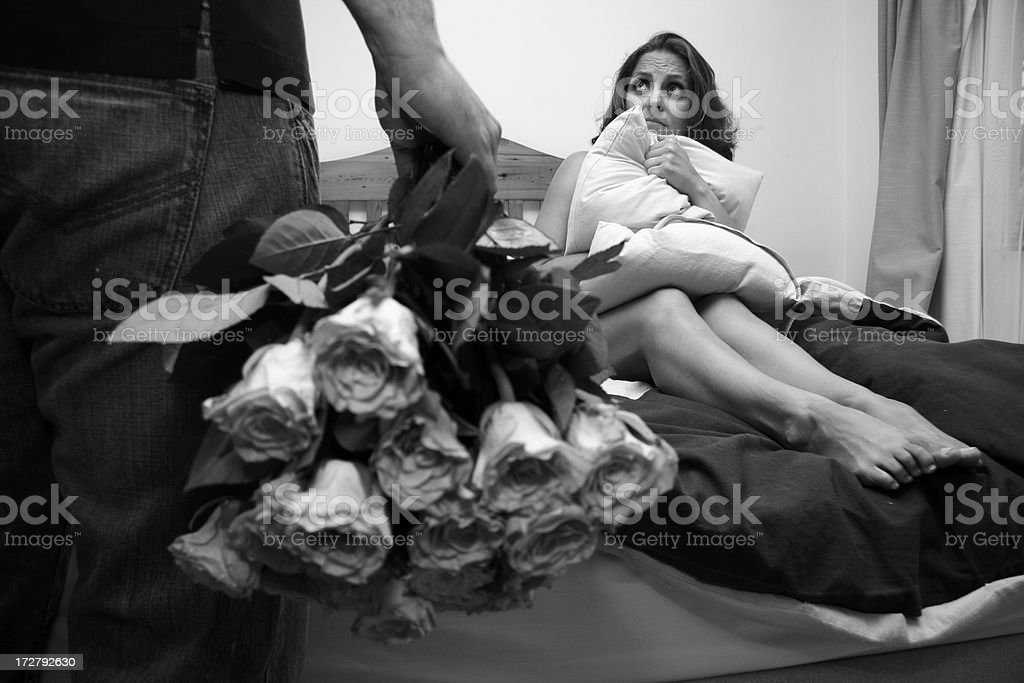 he said it would never happen again royalty-free stock photo