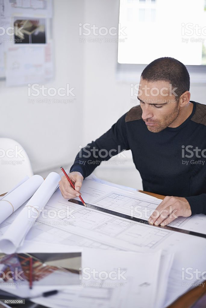 He takes great pride in the accuracy of his work royalty-free stock photo