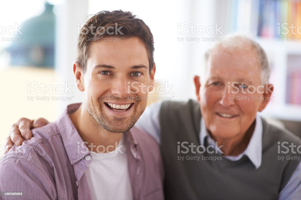 He taught me how to be a man stock photo
