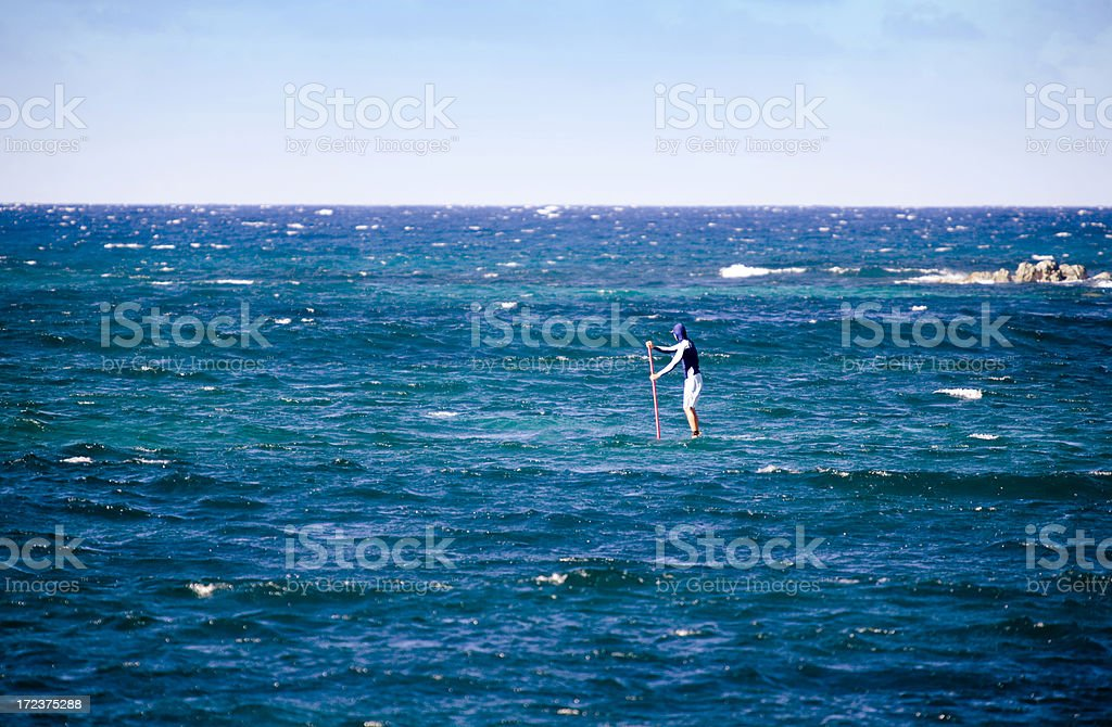 He Walks On Water stock photo