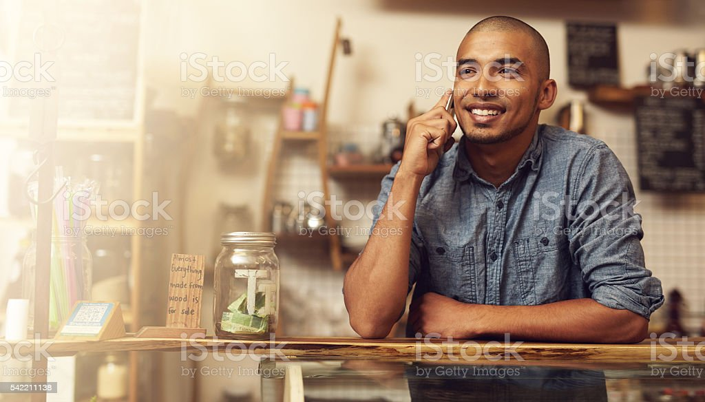 He was born to be an entrepreneur stock photo