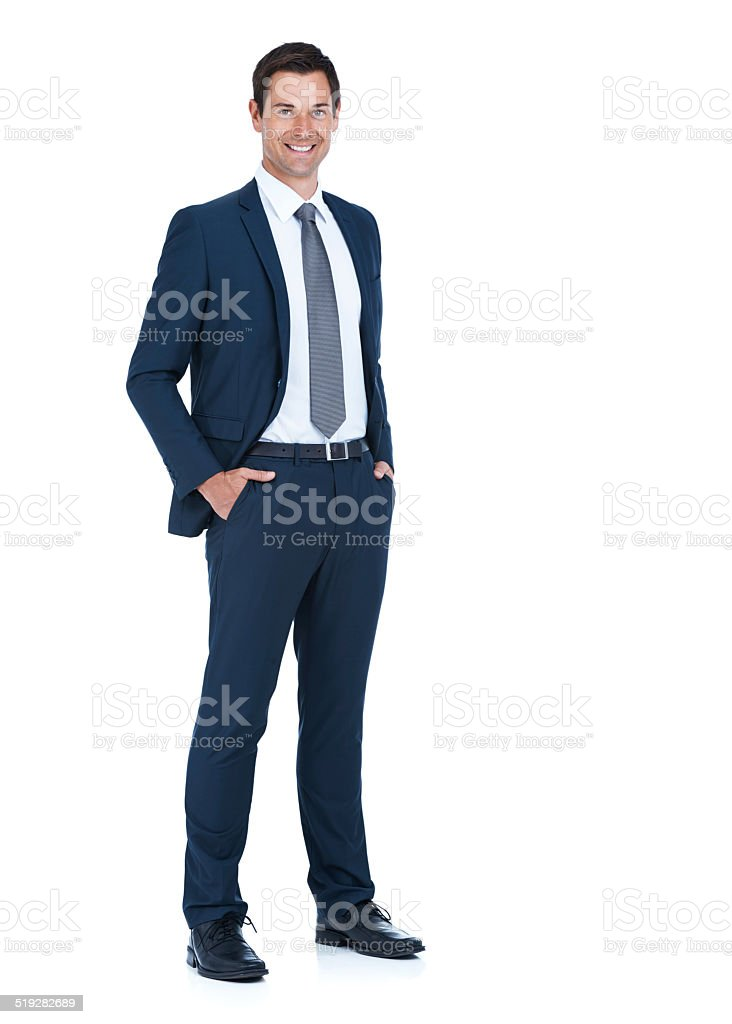 He was made for the corporate world stock photo