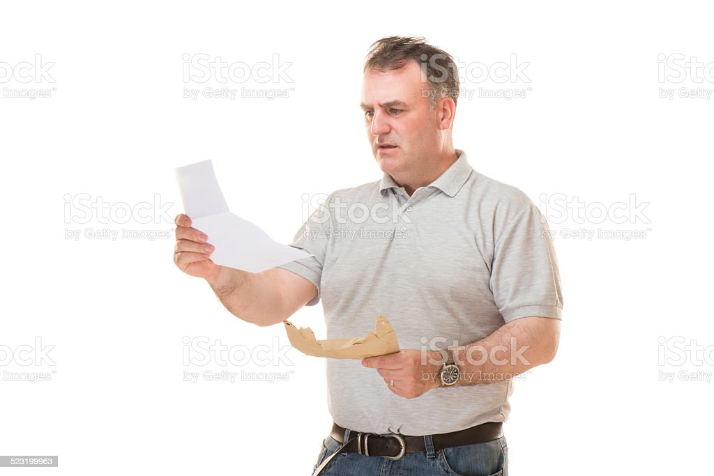 he wasn't expecting that bill stock photo