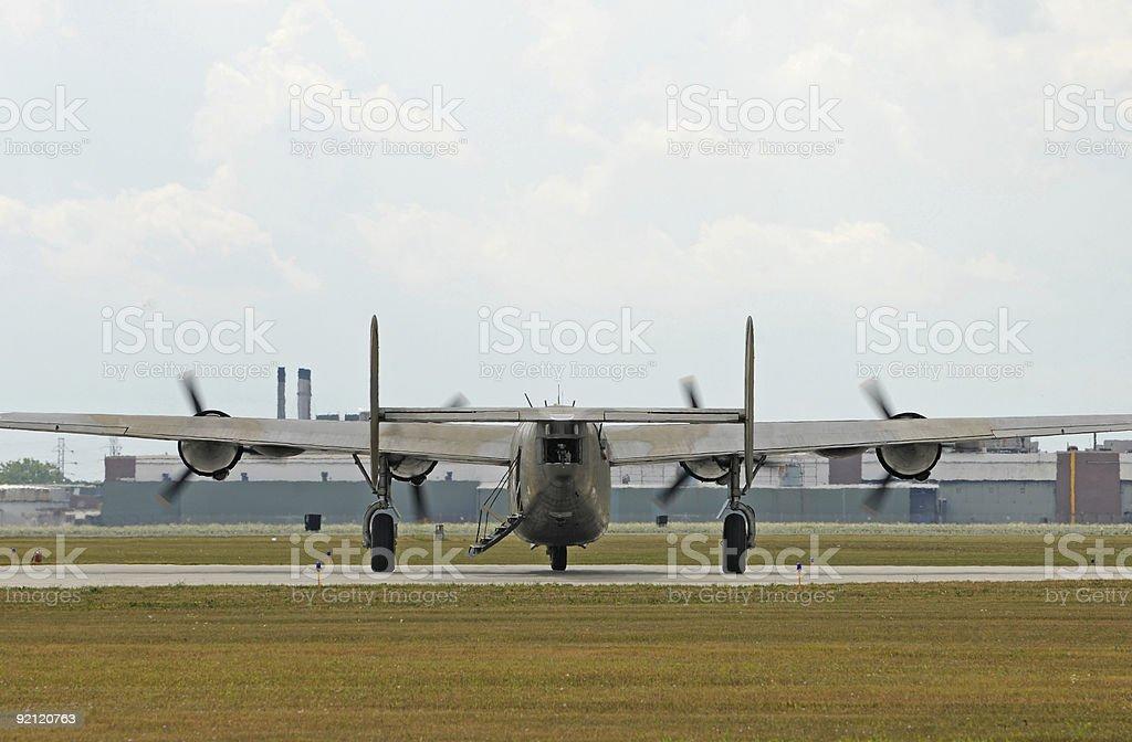 Heaby bomber royalty-free stock photo