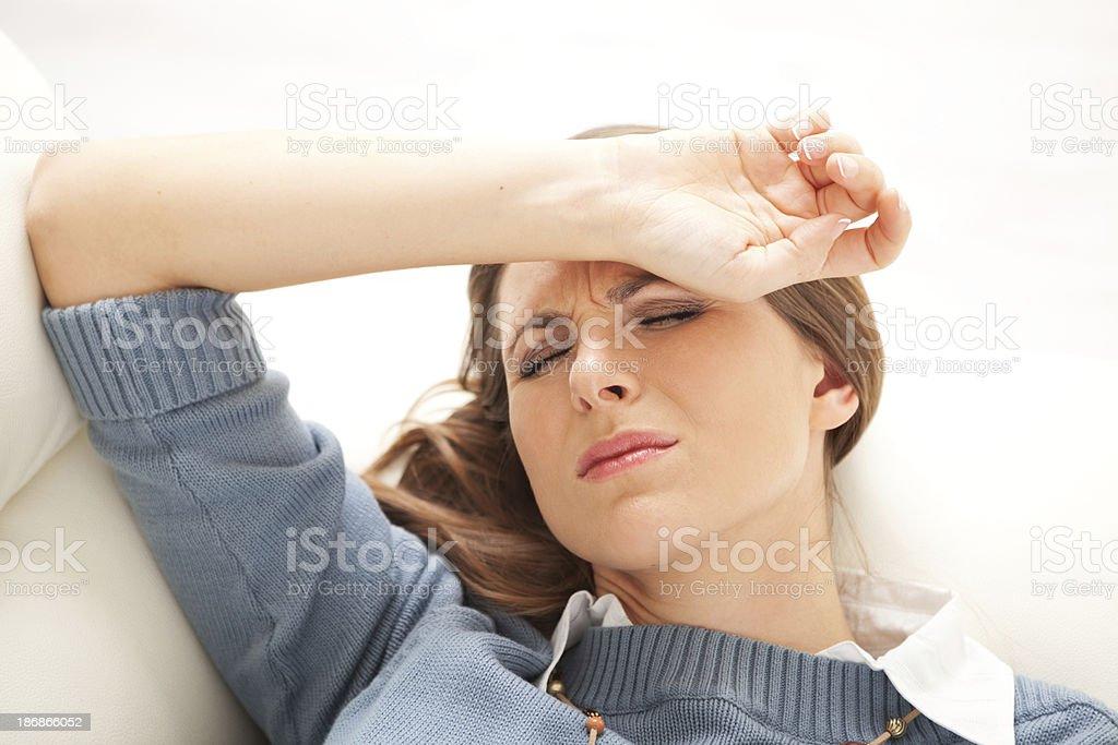 Head ache. stock photo