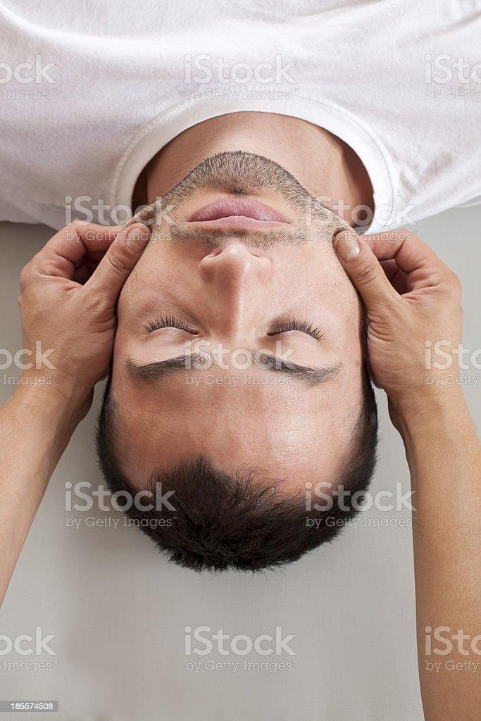 Head Acupressure Massage royalty-free stock photo