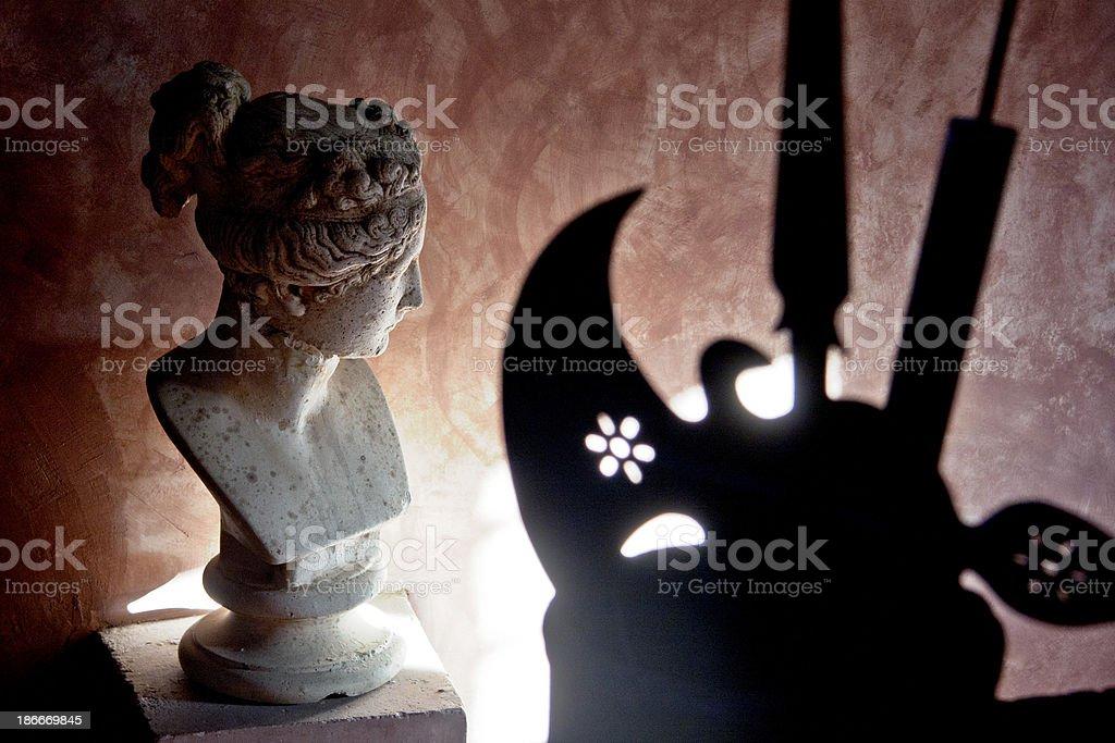 Head and axe stock photo