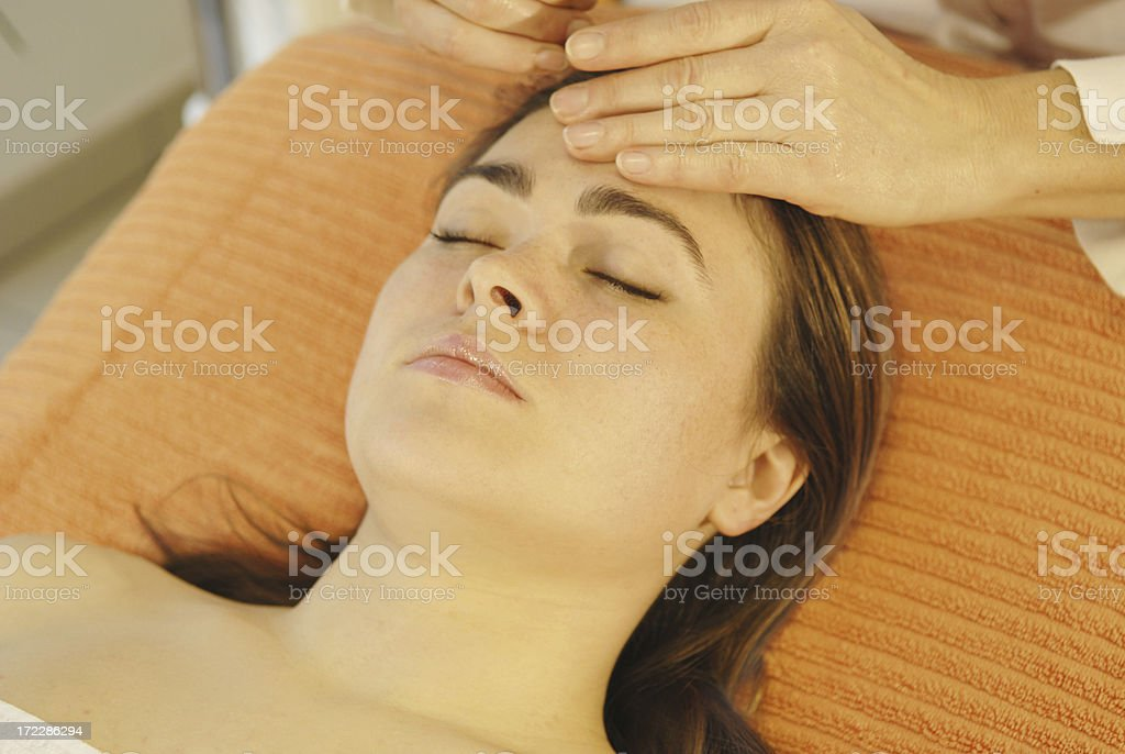 Head and shoulder massage royalty-free stock photo