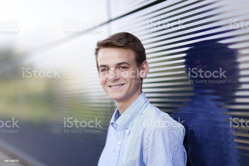 Head and Shoulder Portrait of Happy Smiling Young Man royalty-free stock photo