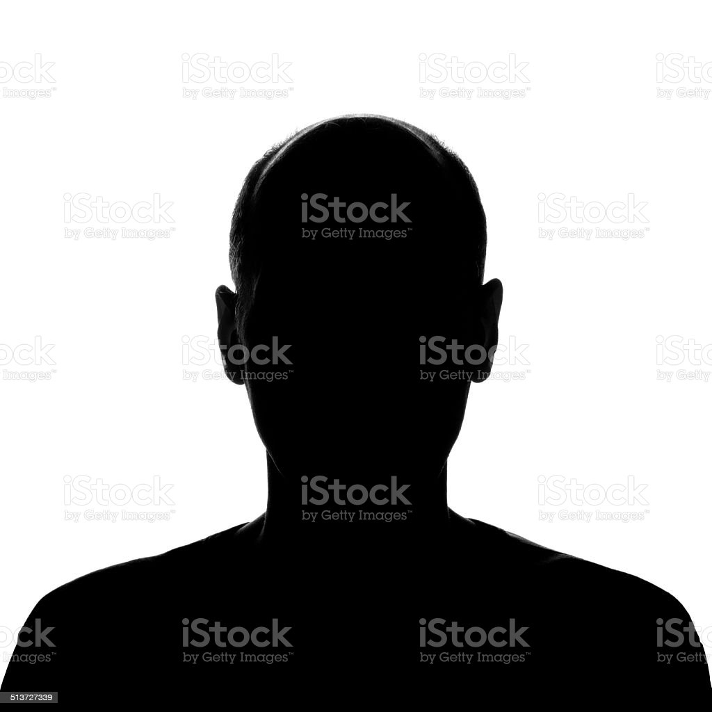 Head and Shoulders Man'€™s Silhouette stock photo
