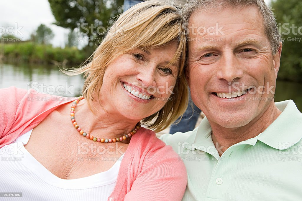 Head and shoulders of a mature couple royalty-free stock photo