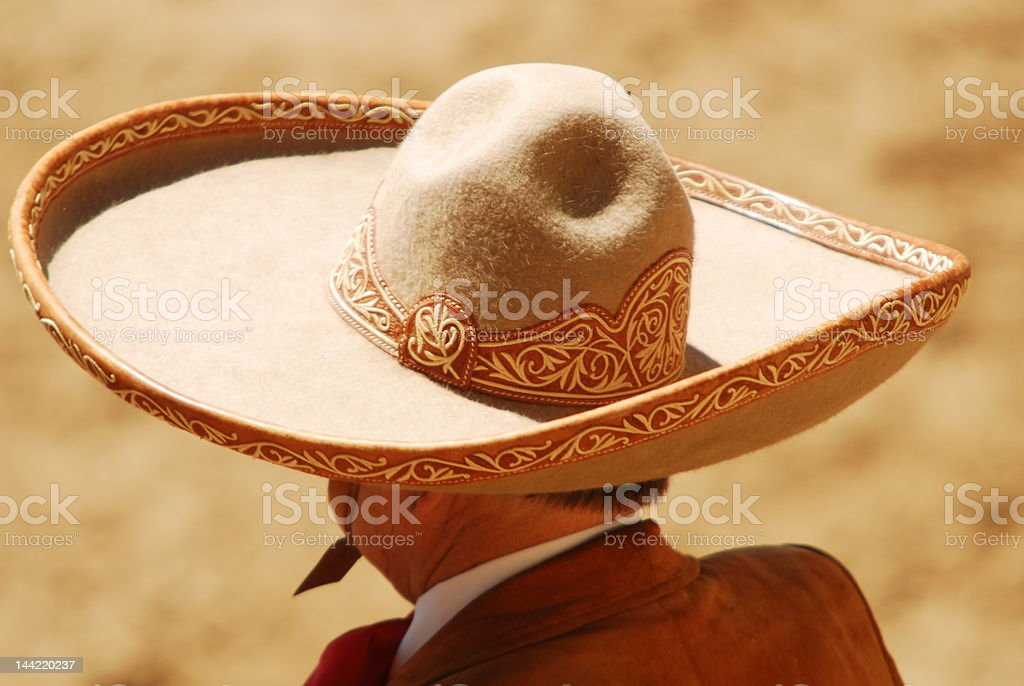 Head and Shoulders of Charro royalty-free stock photo