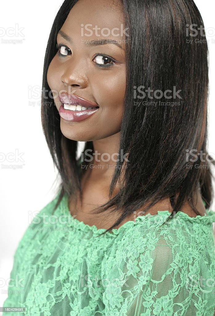 Head and Shoulders Woman royalty-free stock photo