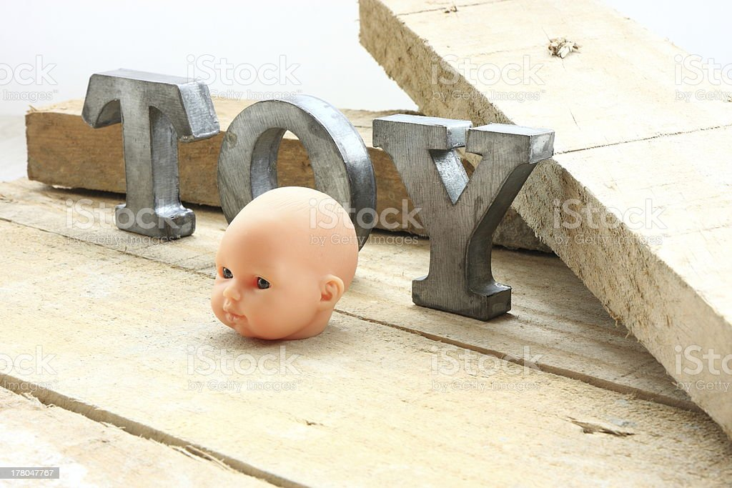 Head and toy royalty-free stock photo