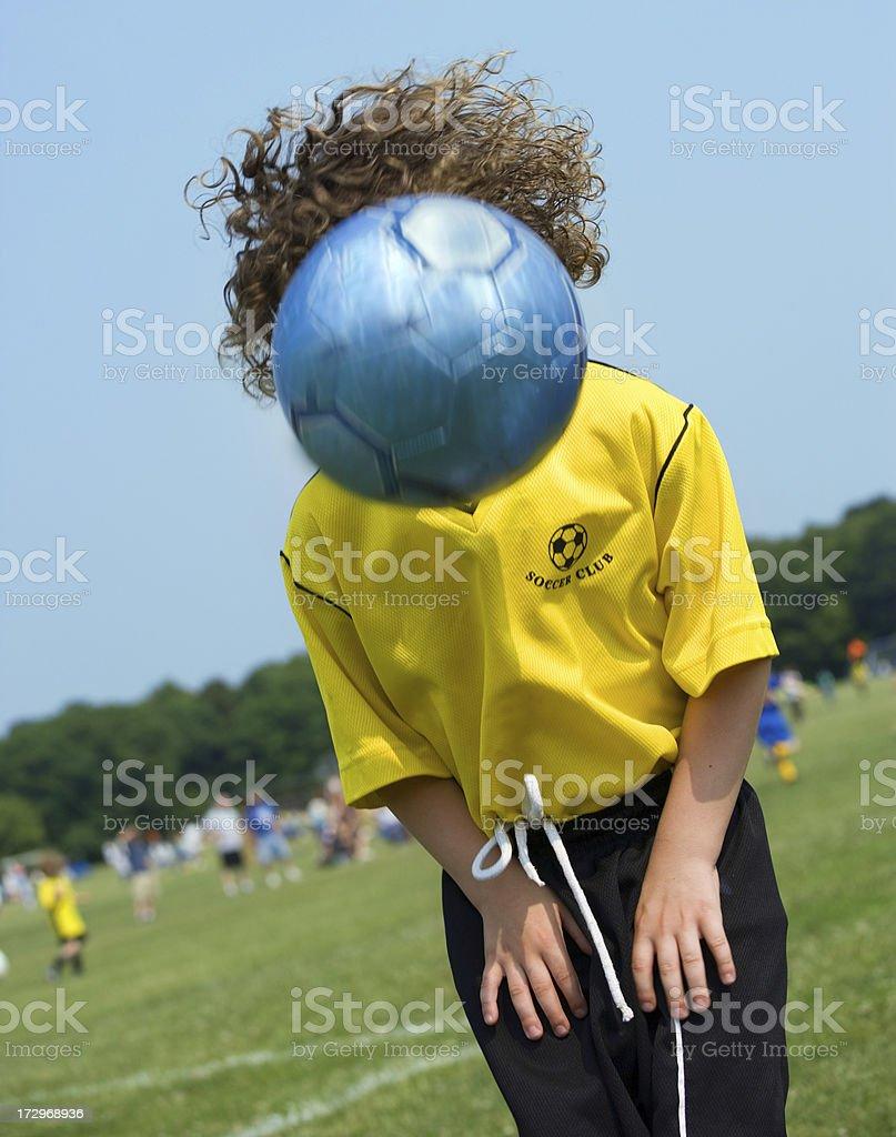 Head ball humor stock photo
