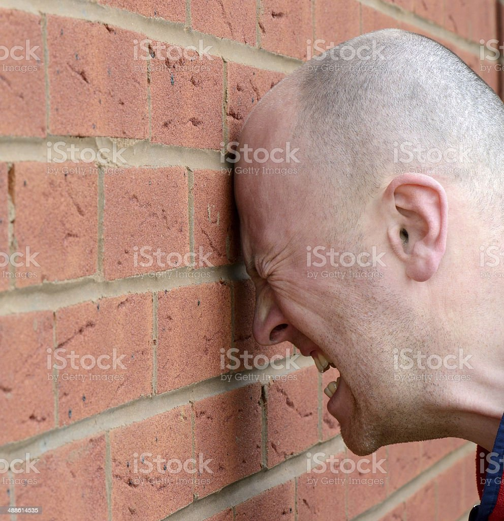 head banging stock photo