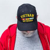 Head Bowed Moment Of Silence USA Military Vietnam War Veteran