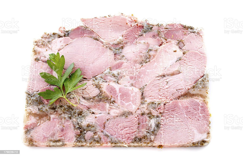 Head cheese royalty-free stock photo